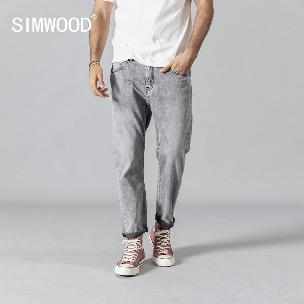 SIMWOOD 2019 summer autumn new fashion   jeans   men ankle-length denim trousers high quality brand clothing 190345