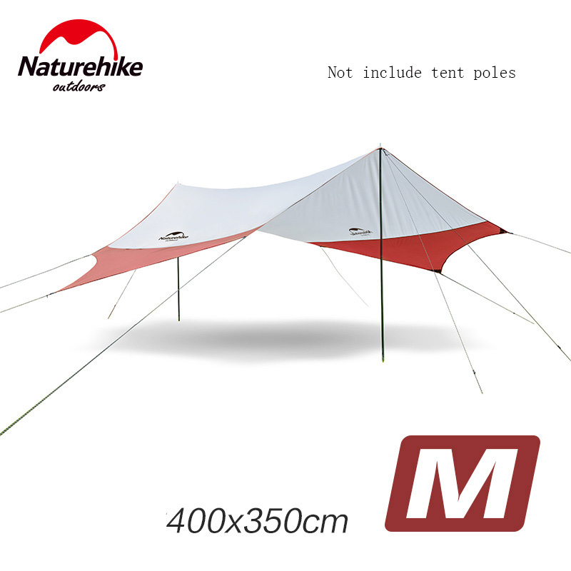Naturehike Outdoor Awnig Beach Large Camping Tents Shelter The Sun Waterproof Ultralight Fast Build 400*350CM NH16T012-S