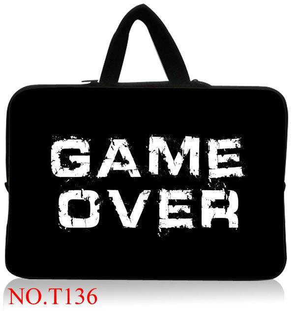 Game Over 11,12,13,14 15 inch Universal Laptop Ultrabook Notebook Skin Bag &for Macbook Air Pro Sleeve Case Women Men