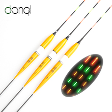 3pcs/set Fishing Float LED Electric Float Light Fishing Tackle Luminous Electronic Float without battery 1# 2# 3#