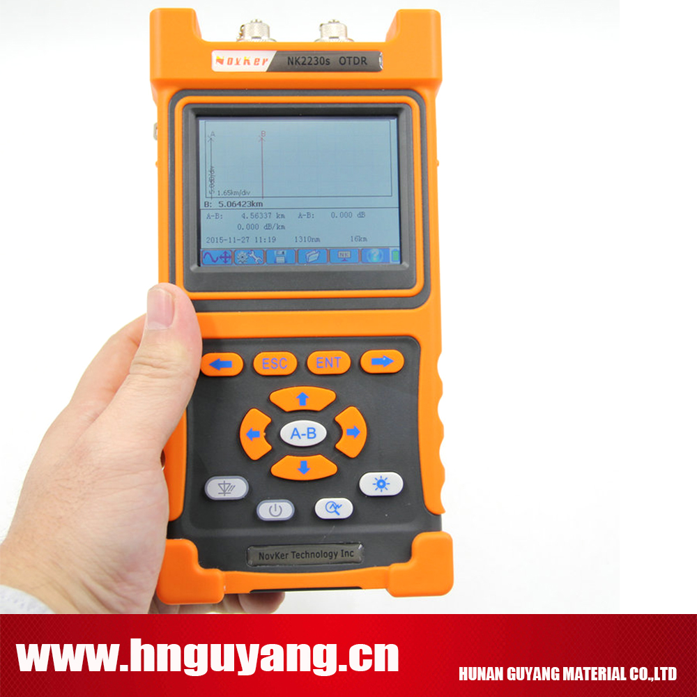 NOVKER NK2000 SM OTDR 1310nm/1550nm 28/26dB,sigle-mode otdr Optical Time Domain Reflectometer with VFL touch screen