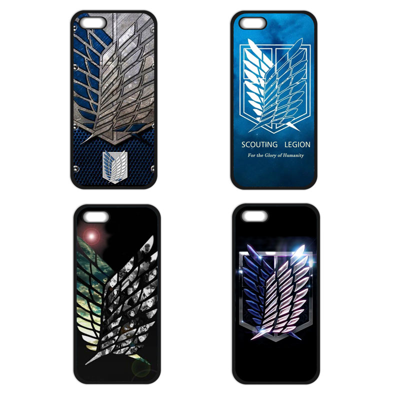 Japanese Anime Attack on Titan Case for iPhone 5S 5C SE 6 6S 7 Plus Samsung Galaxy S3 S4 S5 Mini S6 S7 S8 Edge Plus A3 A5 A7
