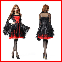 Halloween Ghost Festival Deluxe Premium Queen Party Party Ballroom Vampire Play Dress Sexy Nightclub Costume Witch Devil Dress U