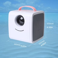 Portable Wireless WiFi Display Screen Mirroring Projector Ethernet Port HD 1080P Home Theather