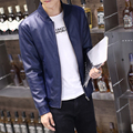 Pu leather jacket men plus size slim fit motorcycle jacket fashion baseball collar bomber jacket man coat big size mens clothing