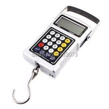 Multifunction digital pendurado escala 50kg 20g eletrônico portátil bagagem gancho balança calculadora termômetro fita equilíbrio de peso
