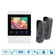 4 inch TFT Color Monitor 1200TVL Camera Video Door Phone Intercom Security Speaker System Waterproof IR Night Vision 1v2