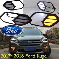 2017 2018 Year Kuga Daytime Light Free Ship LED Kuga Fog Light 2pcs Ecosport Kuga Day