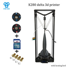Large buid size NEWest Kossel K280 delta 3D printer 24V 400w power with auto level and heat bed two rolls of filament gift