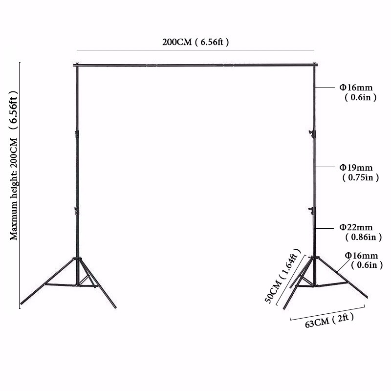 2M X 2M Photo Backdrops Background Support System Stands with Photography Studio Adjustable Backdrop ashanks pro photography studio photo backdrops frame background support system 2m x 2 4m stands for photo shoot carry bag