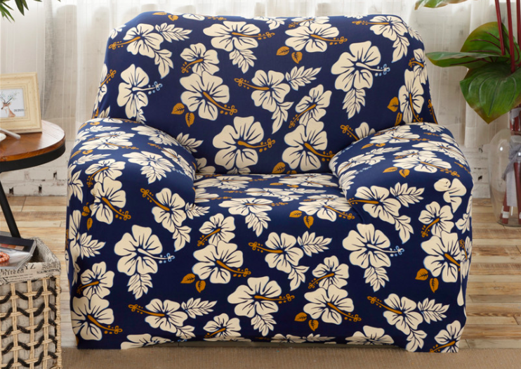 Spandex Stretch White Flower Pattern Sofa Cover Big Elasticity 100%  Polyester Sofa Furniture Cover In Sofa Cover From Home U0026 Garden On  Aliexpress.com ...