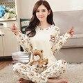 Y el otoño de algodón de manga larga de algodón pijamas Equipamiento Del Hogar traje lindo de la historieta Coreana XL libre en otoño e invierno