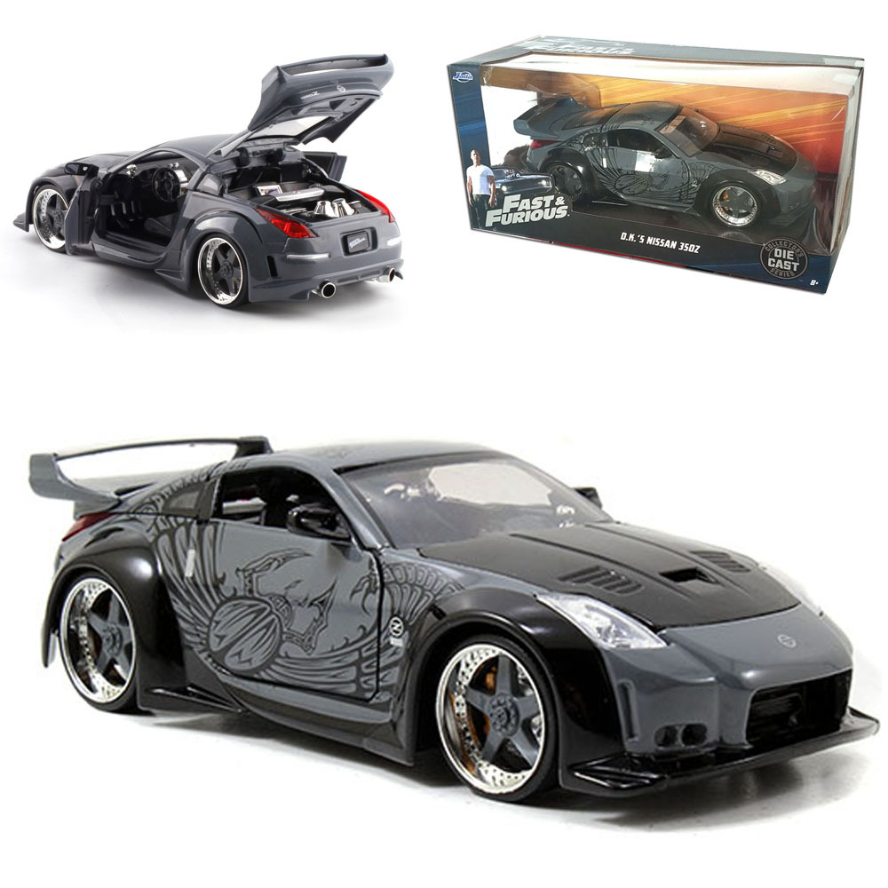 1:24 Black Nissan Sports Car Model Alloy Adult Decoration