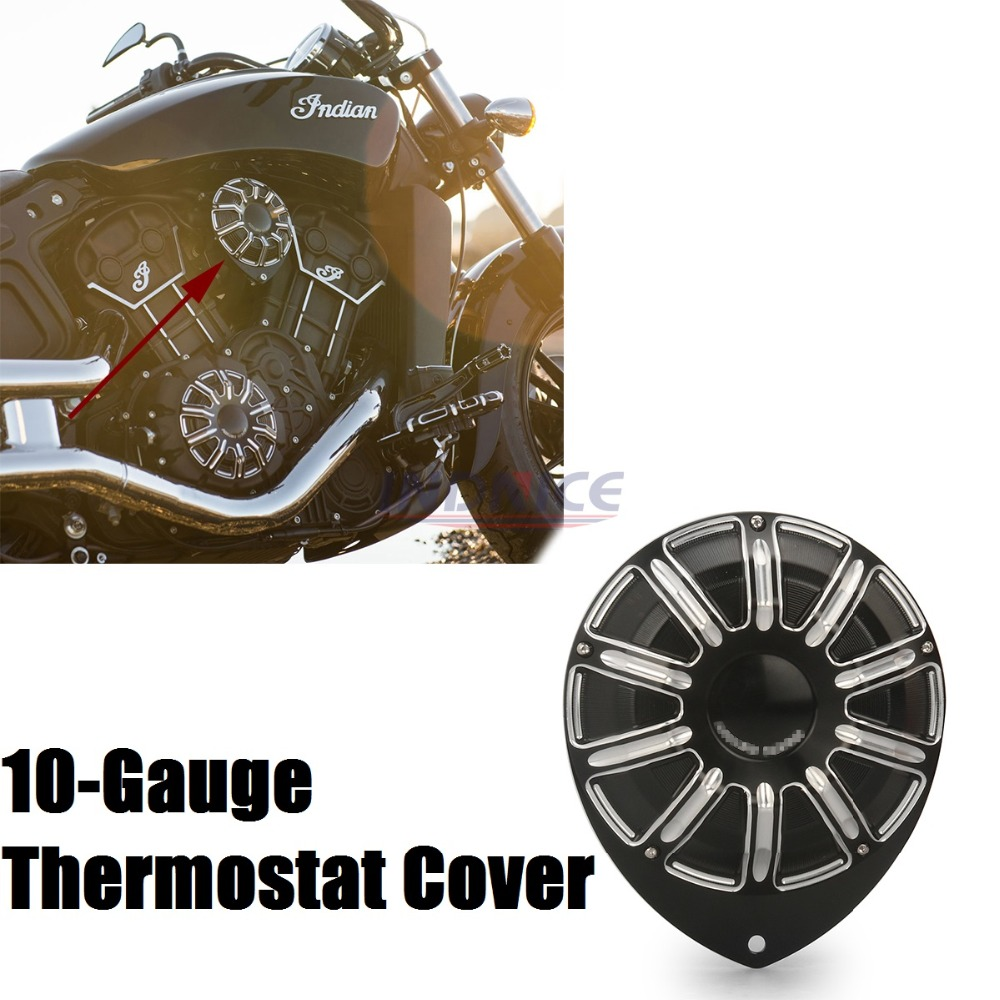 10-Gauge Thermostat Cover For Indian Scout Thermostat Cover Scout indian motorcycle Black