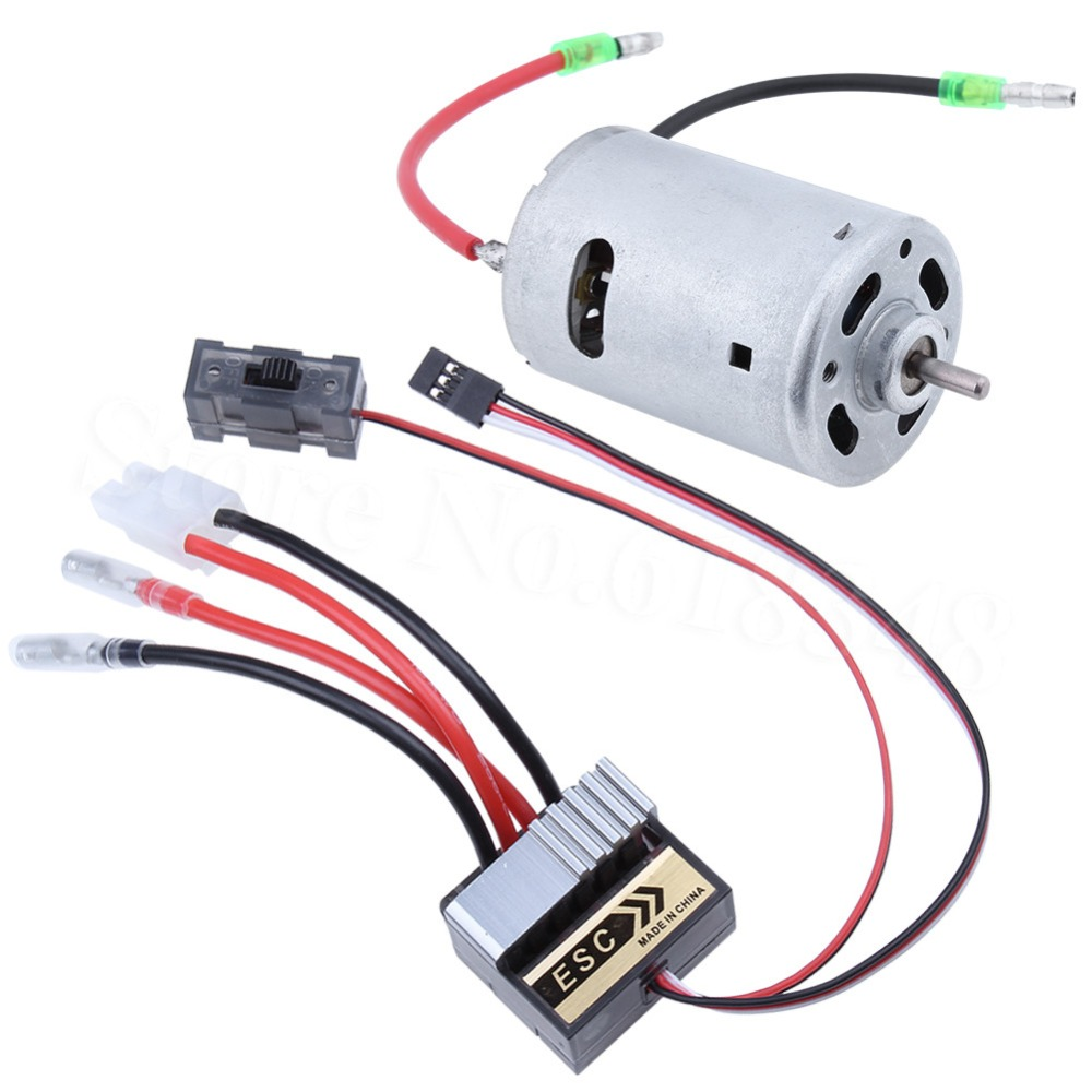 320A Brush ESC With 540 Motor HSP 03011 RS540 26 Turn Brushed Electric Engine Motor For 1/10 RC Hobby Car mach hsp 320a brushed brush motor speed controller esc f 1 10 1 12 rc truck car boat