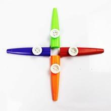 Простой дизайн легкий пластиковый казу 4 цвета Orff инструмент для гитары инструмент для любителей музыки дети музыкальные игрушки Дети