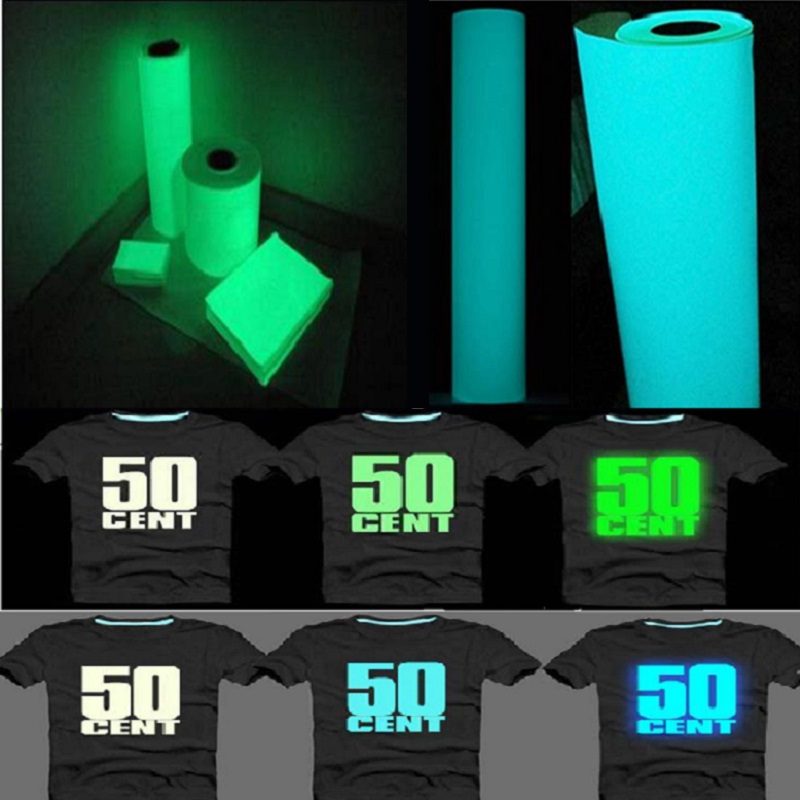 Luminous Self-adhesive Film Hot Ironed On Clothing Engraved Fluminous Film