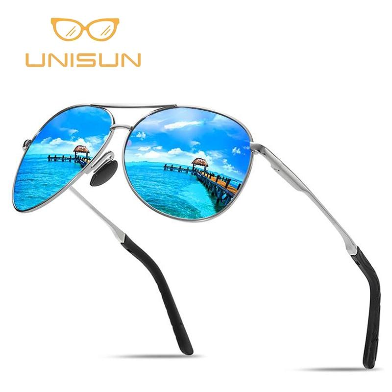 6a6f6b26488 UNISUN 2018 New Sunglasses Men Polarized Vintage Pilot Coating Mirror Sun  Glasses For Women Driving Aviation Sunglass UV400