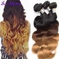 Top 8A Ombre hair extensions #1b/4/27 Malaysian Virgin Hair Bundles Body Wave 4Pcs Lot ombre virgin Malaysian Body Wave Ali Moda