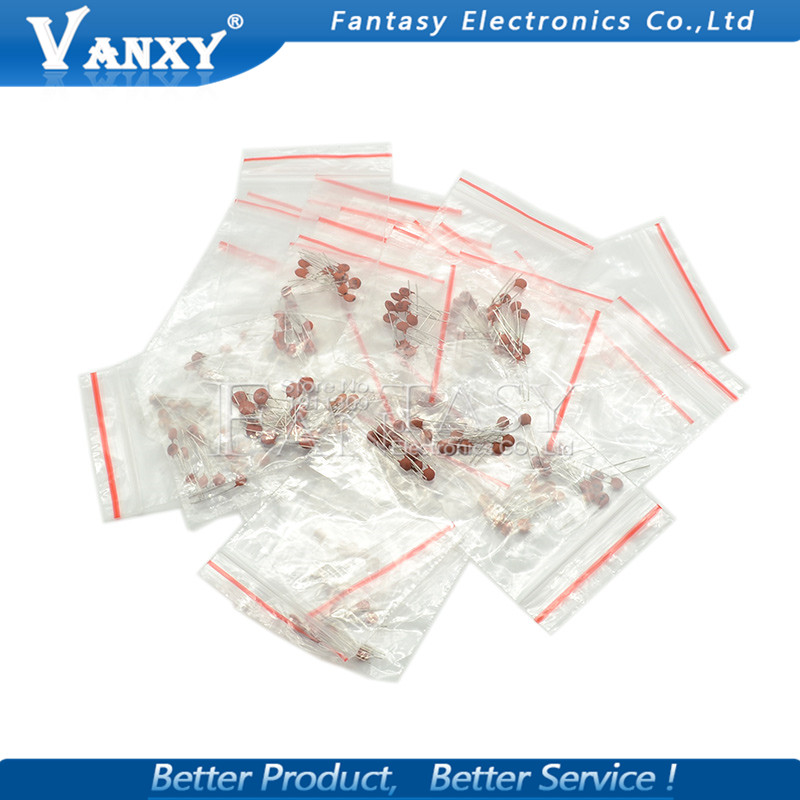 30 ValuesX10pcs=300pcs Ceramic Capacitor 2PF-0.1UF Component Diy Samples Kit New And Original