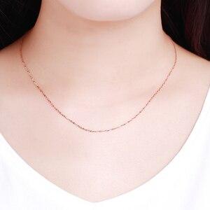 Image 5 - אמיתי 18K לבן צהוב זהב שרשרת שרשרת תליון 18 סנטימטרים au750 תכשיטי שרשרת נשים בסדר מתנה