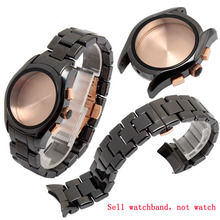 Keramik Armband für 22mm AR1400 AR1410 Männer Uhr Armband Schmetterling Schnalle uhrenarmbänder Zubehör + Kostenlose Tools