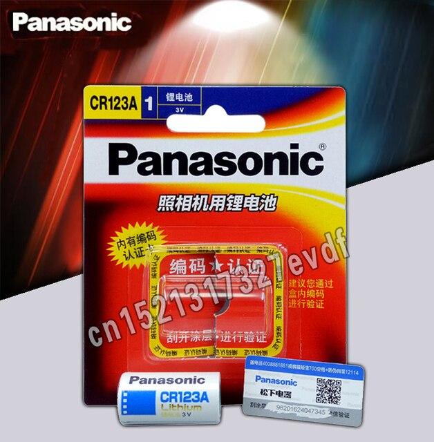 4 упак./лот новый оригинальный Panasonic CR123A CR17345 3 V литиевая Батарея Камера Non-аккумуляторы Бесплатная доставка