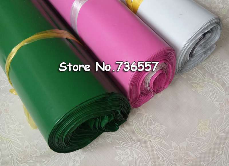 100pcs 20x30cm Green White Pink Logistics Courier Bag Courier Envelope Shipping Bag Mail Bag Self Adhesive Seal Plastic Pouch