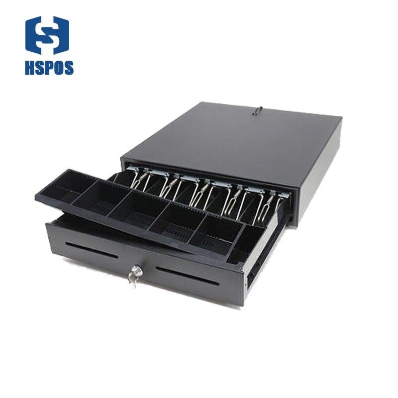 Qualité caisse tiroir caisse support 5 factures 8 pièces pour supermarché caisse boîte peut ajuster la boîte de pièces RJ11 port