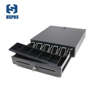 Quality cash drawer cash box support 5 bills 8 coins for supermarket cashier box can adjust coins box RJ11 port