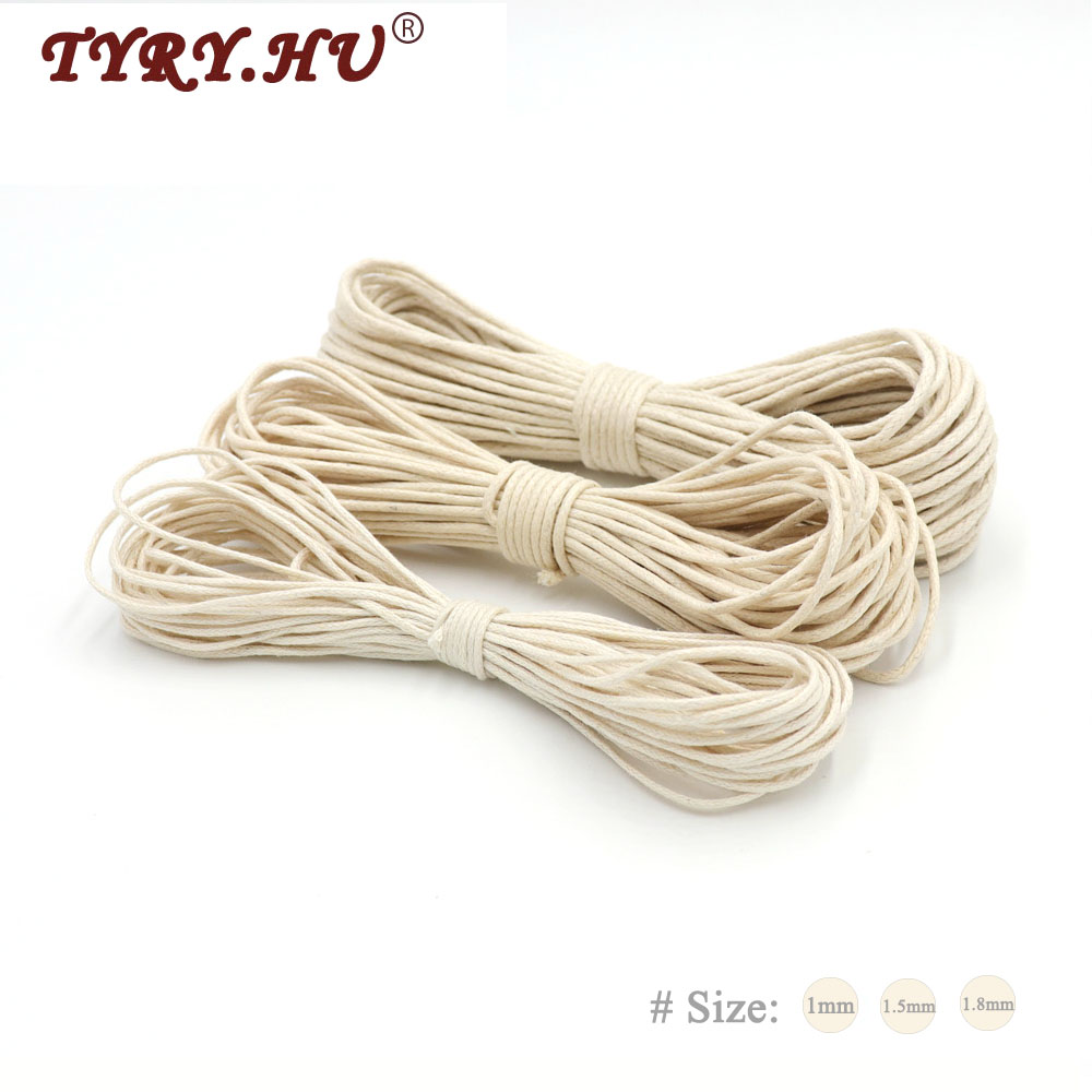 TYRY.HU 10Meters Waxed Wind Rope Baby Girl Jewelry Bracelet Crib Toy Knitting Rope Baby Teething DIY Pacifier Clips Fixed Rope