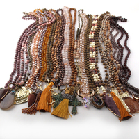 Wholesale MOODPC Fashion Mix Color Brown Necklace Handmade Women Jewelry 20pc mix