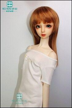 Ropa para muñeca BJD se adapta a la muñeca BJD 1/3, camiseta de moda con estampado blanco, variedad de patrones disponibles