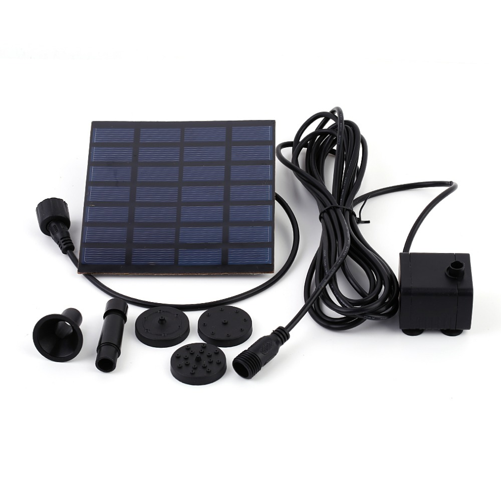 New Solar Power Water Pump Garden Sun plants watering outdoor water Fountain Pool Pump In Stock