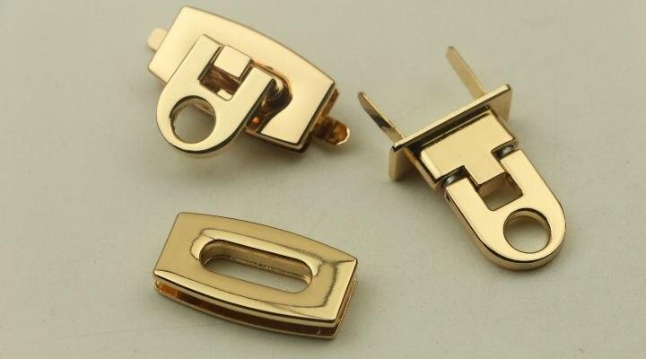 Matériel Blocage De Accessoires En Bagages lot 50 Mortaise Gold Lumière Gros Vis Or Serrure Pièces Sac XOHRpR