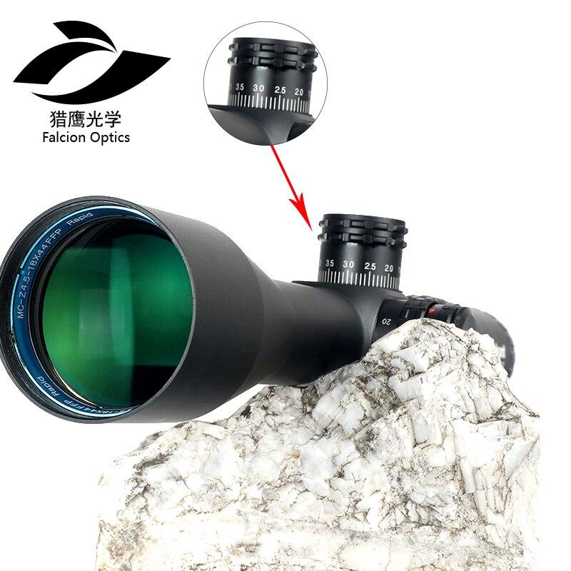 FYZLCION FFP 4.5-18X44 SFIR premier plan Focal lunette optique côté parallaxe R/G verre gravé réticule verrouillage portée de réinitialisation