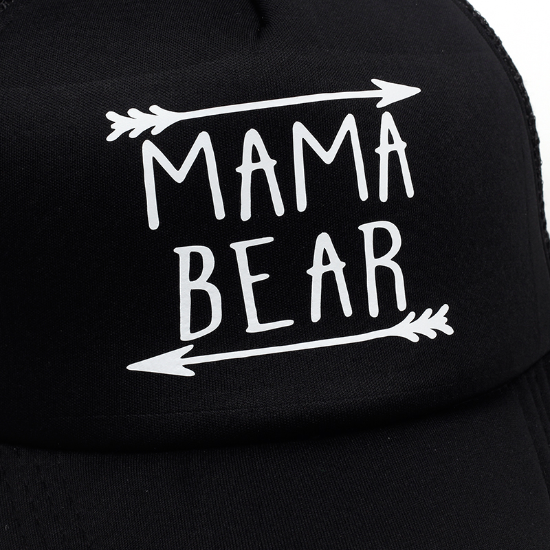 7a8775e617472 2018 new MAMA bear arrow Letters Print Baseball Cap Trucker Hat For Women  Men Unisex Mesh Adjustable Size Drop Ship-in Baseball Caps from Men s  Clothing ...
