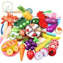 Toywoo Corte De Blocos de Brinquedos Brinquedos De Alimentos Da Cozinha Fruta Vegetal Peixe Crianças Adoráveis Brinquedos Brincar de Casinha de Brinquedo De Madeira para As Crianças Do Bebê