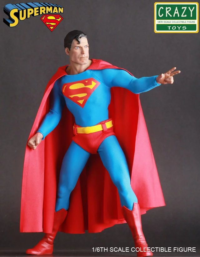 Crazy Toys DC Superman Super Man Hero BJD Action Figure Collectible Toy