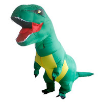 Inflatable Dinosaurs 2017 Halloween Costume Adult Clothing Jurassic Park Dinosaur Tyrannosaurus Rex Free Shipping