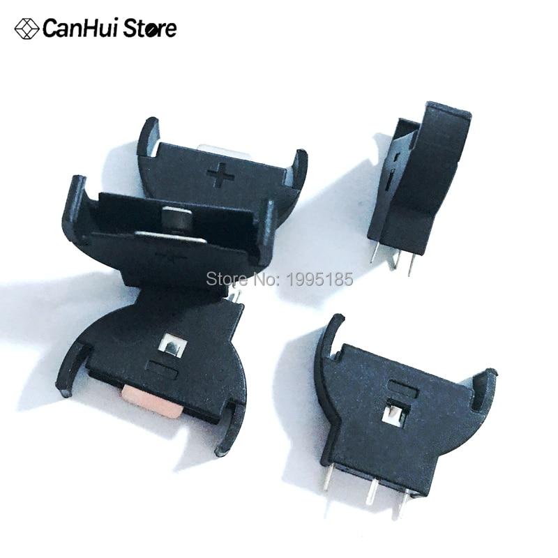 50pcs CR2032 Vertical Upright Battery Holder