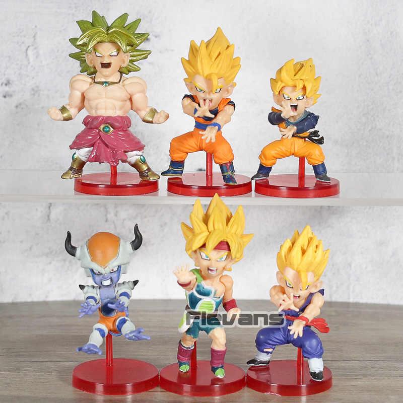 WCF Banpresto Dragon Ball Z Figura Colecionável Mundo Batalha de Saiyans Vol 4 Set Broly Goku Gohan Goten Freeza barduck