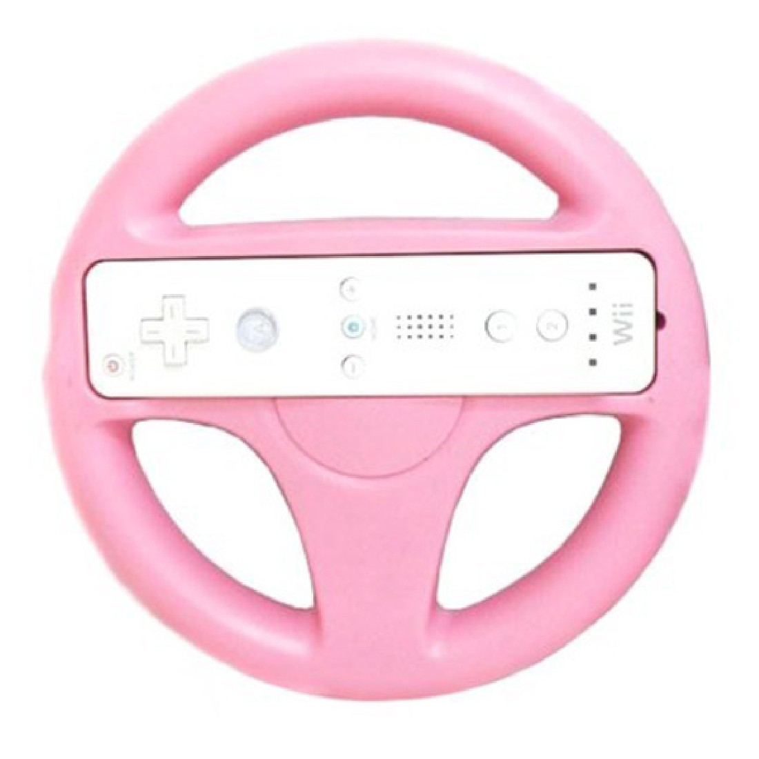 New Fashion Steering Wheel For Nintendo Wii Mario Kart Remote Controller Racing Games Pink