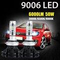 Oslamp 2PCS 9006 HB4 50W LED Car Headlight Bulbs CSP CREE Chips 3000K/6500K/8000K 6000lm Auto Led Headlamp Fog Light DRL 12v 24v
