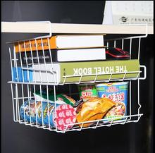 The cabinet closet hangs a rack of storage rack kitchen dormitory bedroom desk decanted the partition board to hang the basket