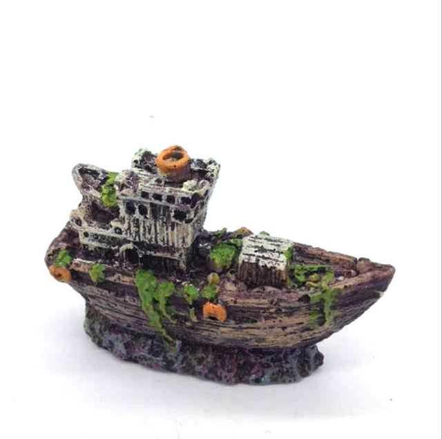 Online Shop Mini Wreck Sunk Sailing Boat Fish Tank Aquarium