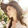 2016 НОВАЯ КОРЕЯ СТИЛЬ МОДА лето женская твердые повседневная вс шляпы летом пляж большой вс hat 4 цвета 1526263124
