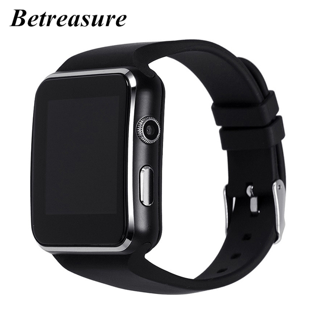 6e71d910f7 Betreasure X6 Curved Screen Smart Watch Bluetooth Camera Support SIM TF  Card SmartWatch For Android iOS