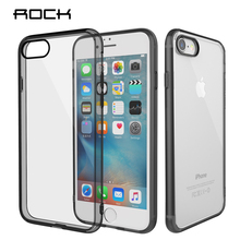 For iPhone 7 / 7 Plus Case ROCK Pure Series Luxury TPU+PC Crystal Clear Phone Case For Apple iPhone 7 Back Cover цена 2017