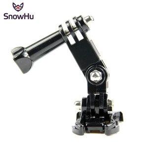 Image 1 - SnowHu sıcak satış fotoğraf aksesuarları Andoer üç yönlü ayarlanabilir Pivot kol Gopro Hero 9 8 7 6 5 4 için SJ4000 kamera GP15